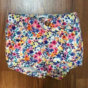 Floral shorts. 12-18 months